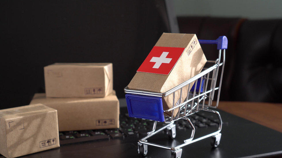 Parcel Boxes with a flag of Switzerland