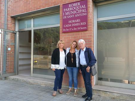 La Fundació Vimar visita el local que acollia el Rober Parroquial i Municipal de Calonge i Sant Anto