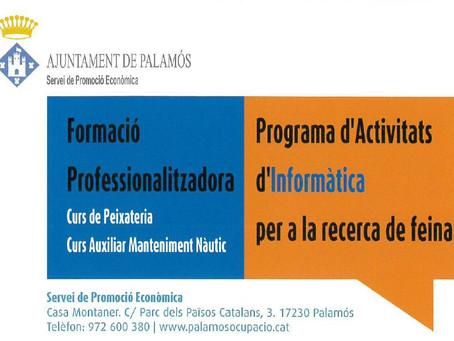 Obert el període d'inscripcions per als nous cursos gratuïts de formació professional a Palamós