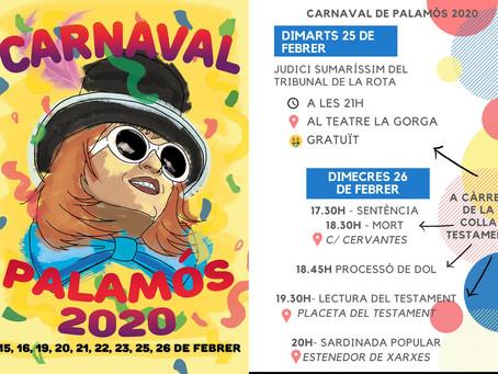 Tots els actes del Carnaval de Palamós 2020, a l'app municipal