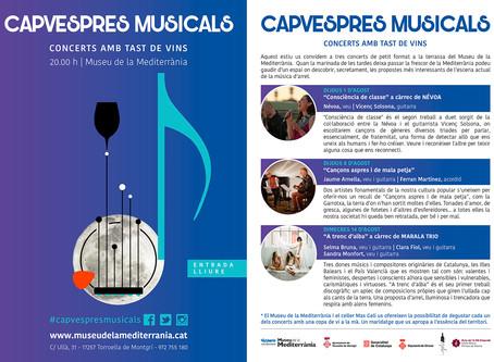 Deixa't seduir pels Capvespres Musicals  al Museu de la Mediterrània