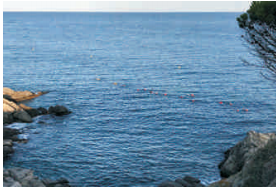 La Via Blava connecta les platges de La Fosca i Castell
