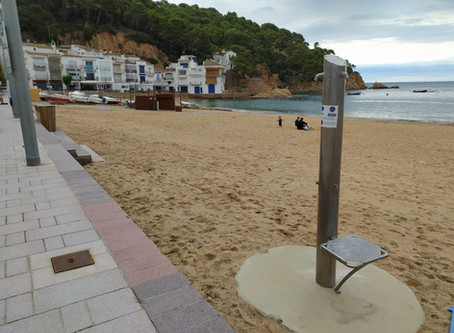 Les platges de Palafrugell no tindran servei de dutxes i rentapeus aquest estiu