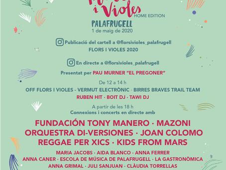 El Festival Flors i Violes tindrà un primer tastet aquest 1 de maig amb una programació virtual