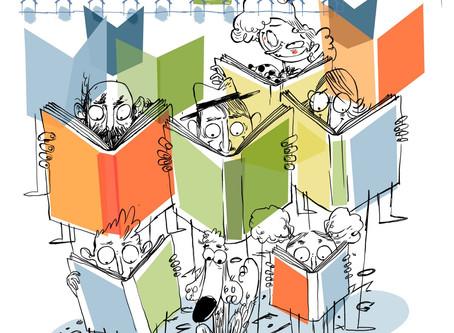 El cartell de la fira Indilletres 2020, a càrrec del'il·lustrador Oriol Malet