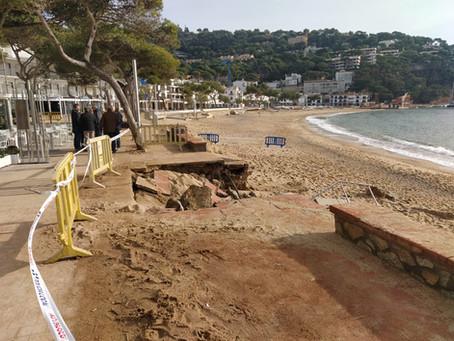 Reparar els danys del Glòria a Palafrugell costarà 1 milió d'euros