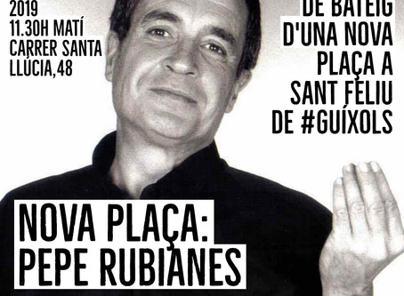 Acte públic de bateig d'una nova plaça a Sant Feliu de Guíxols