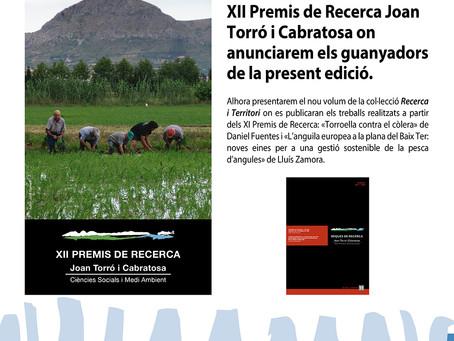 Es fan públics els guanyadors XII Premis de Recerca Joan Torró i Cabratosa