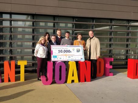 Els càmpings gironins entreguen 10.000€ per a la investigació del càncer infantil