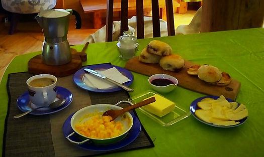 Desayuno en Valle Cochamo