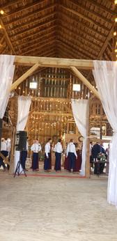 Pre-ceremony line-up