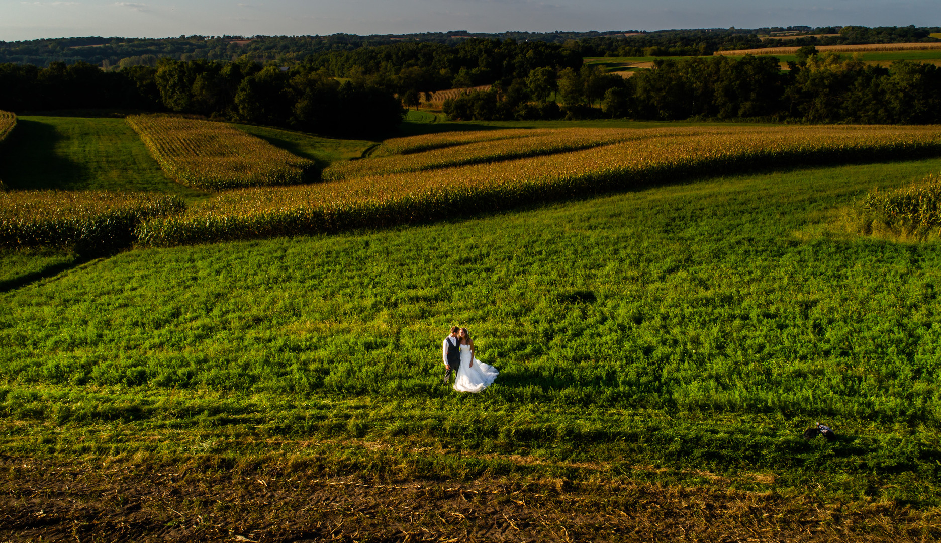 Bride and Groom in Farm Paradise