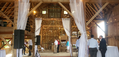 Decorated barn interior