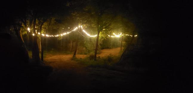 Walking paths at night