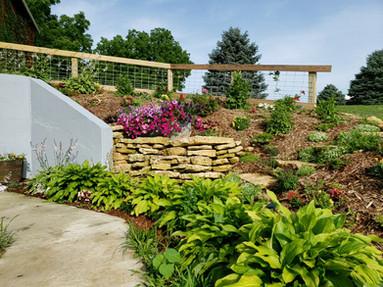 Rock and flower garden