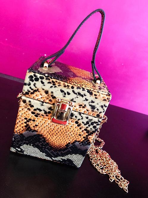 Leopard Box Purse