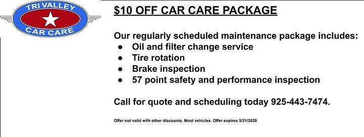 oil change coupon