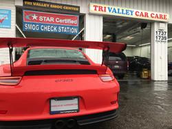 A Porsche GT3RS visiting for a smog!