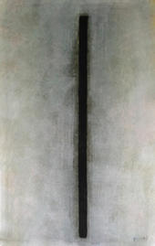 Gouache - Schwarzer Strich
