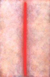 Bild - Rote Linie auf farbigem Weiß