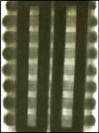 Fensterbild Schwarz / Gelbgrau