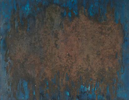 Bild - Sandbild auf Blau