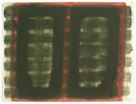 Gouache - Fensterbild