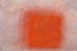 Gouache - Farbfeld Rot auf Rot