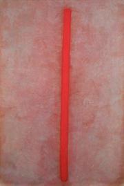 Gouache - Rote Linie