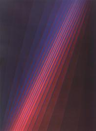 Fächerbild - Blau-Rot