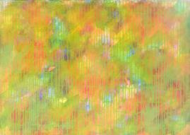 Bild - Dripping Grün Gelb
