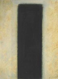 Gouache - Stele Schwarz