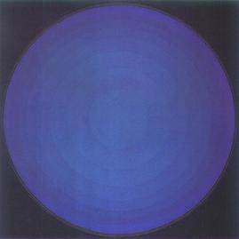 Bild - Blauer Kreis auf schwarz