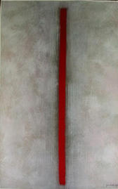 Gouache - Roter Strich
