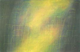 Gouache - Dripping mit Gelb