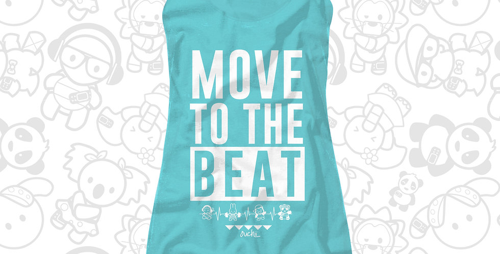 Move to the Beat Racerback (Women)(Teal/Tahiti)