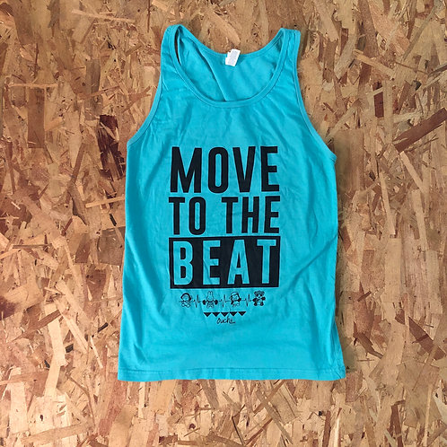 Move To The Beat Tank (Black Ink)