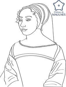 MAULNES - Louise de Clermont coloriage.j