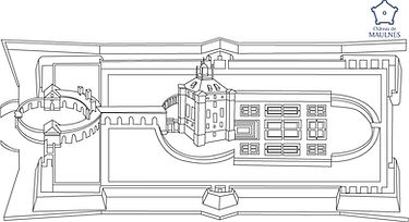 MAULNES - Plan Androuet du Cerceau color