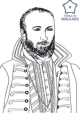 MAULNES - Antoine de Crussol Coloriage.j