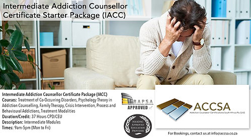 Intermediate Addiction Counselling Certificate Package (IACC) 37 Hours CEU/CPD