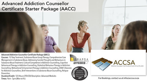 Advanced Addiction Counselling Certificate Package (AACC) 123 Hours CEU/CPD Zoom