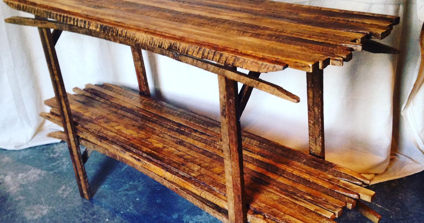 Tobacco Stick Sofa Table