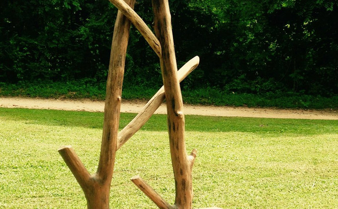 Locust Log & TN Tobacco Stick Chair