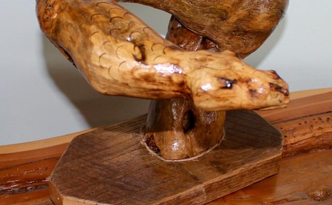 Snake Sculpture from Locust Tree Stump