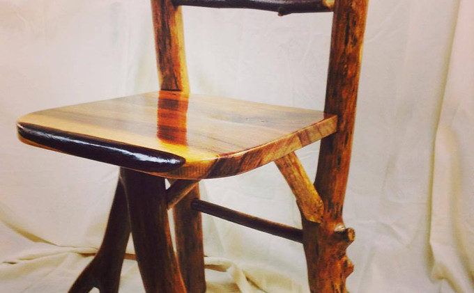 Cherry & Locust Log Chair