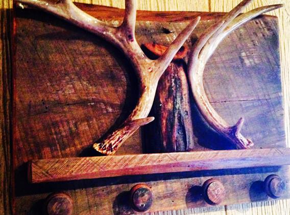 Antlers & Barnwood Peg Board