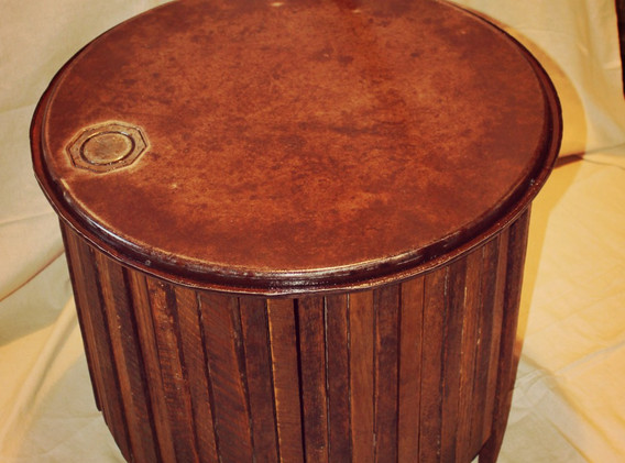 Tobacco Stick & Old Drum lid Coffee Table