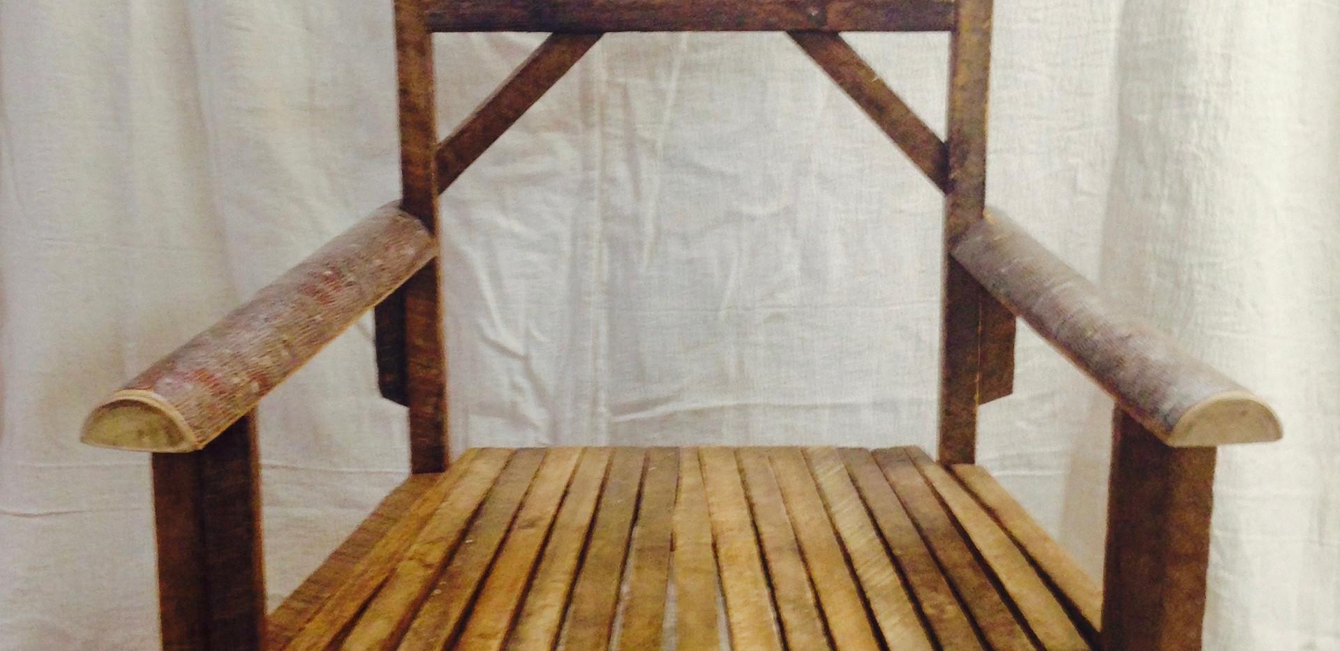 Tobacco Stick & Poplar Log Chair