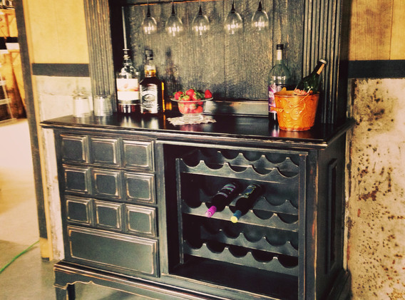 Dressed Turned Wine Cabinet